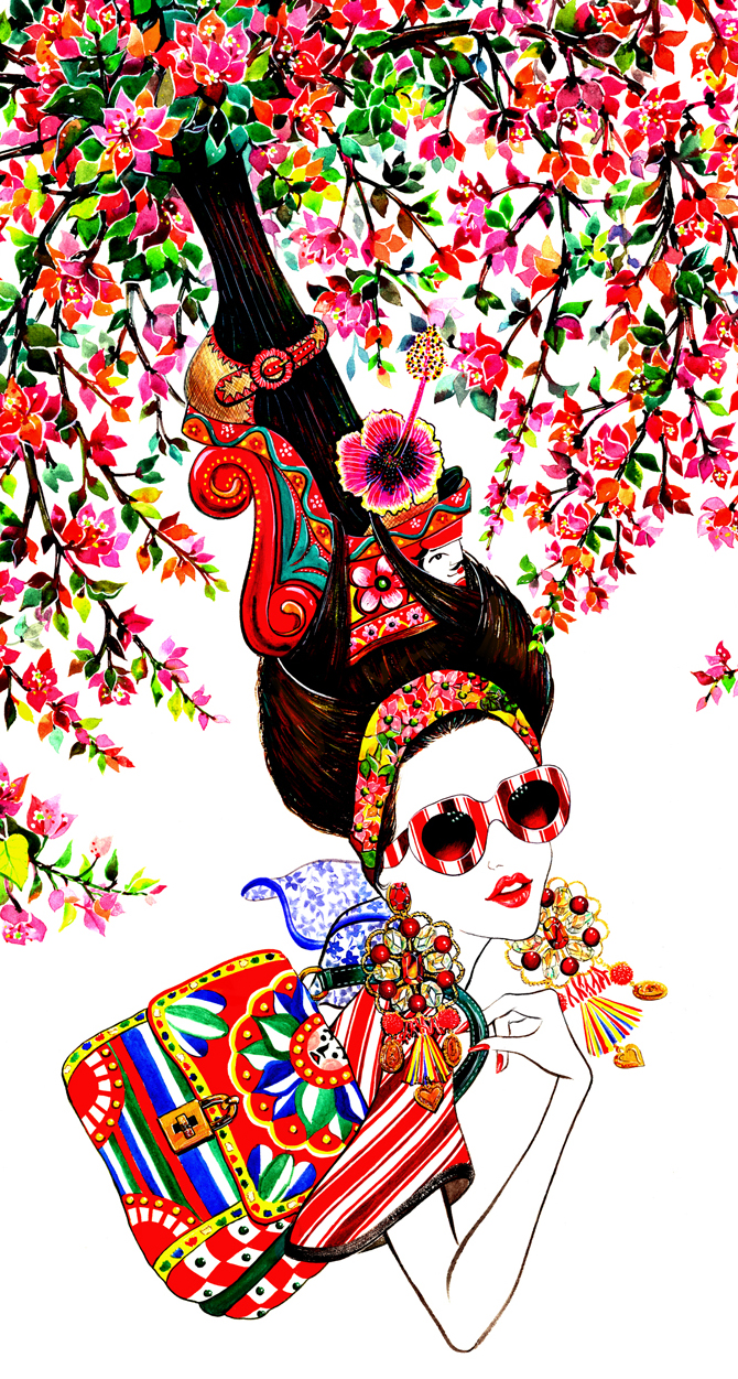 Illustration inspired by Dolce & Gabbana S/S 2013 collection(detail)